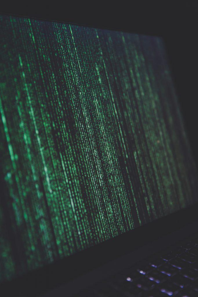 Big Data, Computer, Black Background, Green characters